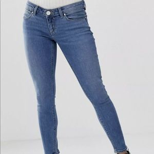 ASOS Design Petite Whitby Low Rise Skinny Jeans